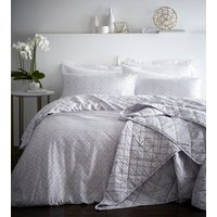 Gatsby Duvet Cover and Pillowcase Set - Ivory / Super King