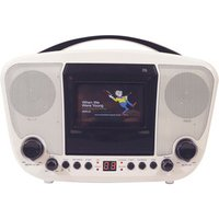 Portable Karaoke Player - White/Black