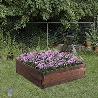 Wooden Raised Garden Bed Planter - Carbonized Colour