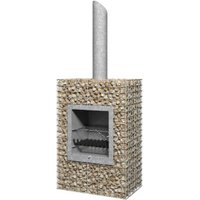 Galvanised Mesh Chimenea  - Rectangular