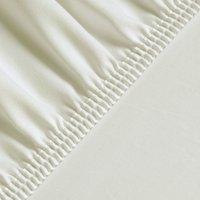 Silky Satin Fitted Bed Sheet Queen - Ecru