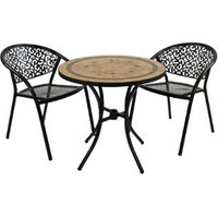 Richmond Bistro Set With Two Florence Chairs