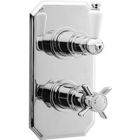 Jonas and James Winchester Twin Thermostatic Shower Valve - Chrome