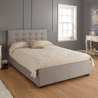 Regal Storage Ottoman Bed Frame - Grey / Double