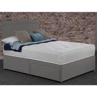 Creedy Divan Drawer Bed With Mattress - Grey / Single / 2
