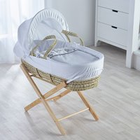 Three Little Sheep Moses Basket with Natural Opal Folding Stand