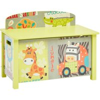 Kid Safari Big Wooden Toy Box - Multicoloured