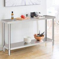 Kitchen Prep Work Table - Silver