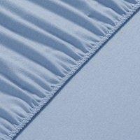 120x200x30 cm Flannel Fleece Fitted Bed Sheet  - Sky Blue