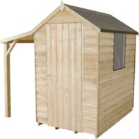 Overlap Pressure Treated Apex Shed with Lean To 4 x 6