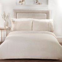 Gild Panel Duvet Cover and Pillowcase Set - Gold / Double
