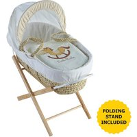 Little Rocker Cream Moses Basket with Natural Opal Folding Stand