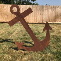Rusty Lawn Feature, Anchor Decoration - Rusty