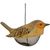 Robin Shaped Bird Feeder Hanging Garden Ornament
