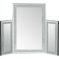 Crystal Effect Dressing Table Mirror - Silver