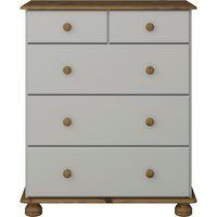 Richmond Deep Five Drawer Chest - Grey and Pine