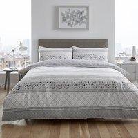Casa Grey Duvet Cover and Pillowcase Set - Grey / Single