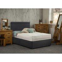 Yealm Non Storage Divan Bed with Mattress - Black / Single