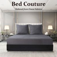 Velvet Flannel Fitted Bed Sheet King - Taupe
