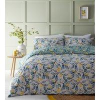 Lemon Tree Duvet Cover and Pillowcase Set  - Sage / Single