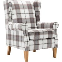 Westminster Check Armchair - Natural