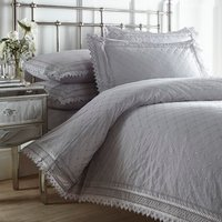Balmoral Duvet Cover and Pillowcase Set - Grey / Double