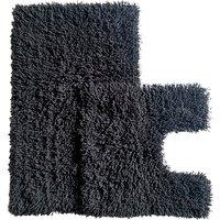 Luxurious Twist Bath Mat Set - Black