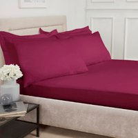 Polycotton Fitted Sheet - Plum / Superking
