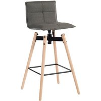 Teknik Spin Bar Stool With Wood Legs - Grey