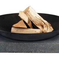 Cast Iron Fire Bowl with Granite Bench - Small