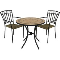 Richmond Bistro Set With Two Modena Chairs
