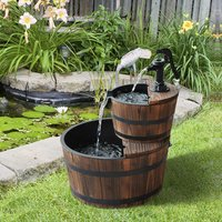 Wooden Water Pump Fountain - wood color