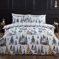 Winter Scene Duvet and Pillowcase Set  - Superking