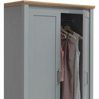 Eaton 2 Door Wardrobe - Grey