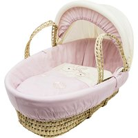 Picnic In the Park Pink Palm Moses Basket - Pink