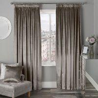 Belvedere Velvet Tape Curtains - Mink / 168cm / 229cm