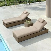 Nova Rhodes Sun Lounger Set - Willow