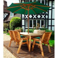 Charles Taylor Six Seater Bench Table Set  - Green