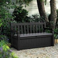 Keter Eden Bench Storage Box  - Grey / 265l / 84cm