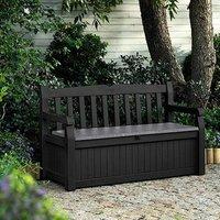 Keter Eden Bench Storage Box  - Grey / 84cm / 265l