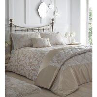 Zahara Duvet And Pillowcase Set - Oyster / Double