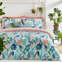 Tropical Leaf Duvet Cover Set - King