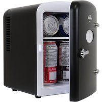 Koolatron Retro Portable 6 Can AC DC Mini Fridge Cooler - Black