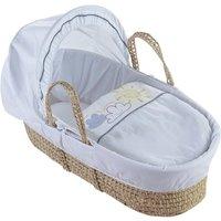 Little Sunshine Palm Moses Basket - White