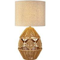 Diamond Pattern Rattan Lamp With Shade