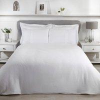 Luxury Waffle Duvet Cover and Pillowcase Set - White / King