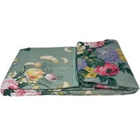 Beautiful Printed Quilted Bedspread Throw - D308