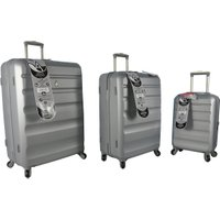 Adelaide Hardshell Suitcase Collection - Silver / Cabin