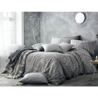 Portfolio Home Palazzo Duvet Cover and Pillowcase Set - Grey / Double