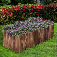 Raised Flower Bed Wooden Planter - Natural wood colour / 80c